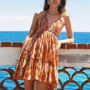 Free People 100 Degree Printed Mini Dress Summer